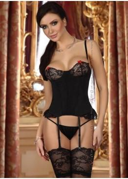 Корсет SHIRLEY CORSET-black, BEAUTY NIGHT