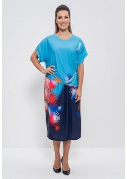 Комплект с юбкой 1101 blue/azure krugi, Cleo