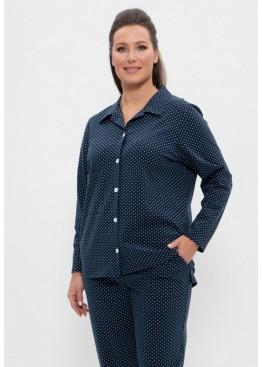 Пижама 1124 синий/пшено, Cleo