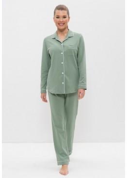 Пижама 1127 оливковый/пшено, Cleo