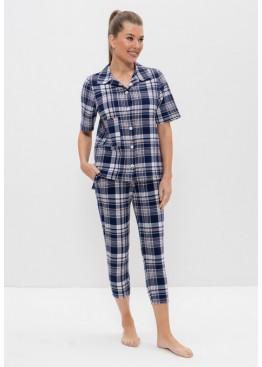 Пижама 1150 синий/голубой, Cleo