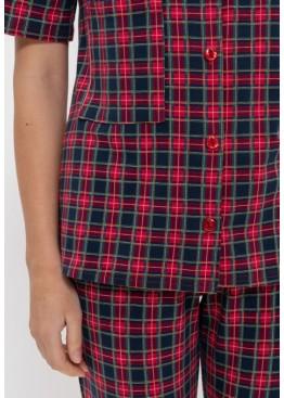 Пижама 1150 красный/зеленый, Cleo