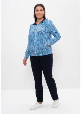 Спортивный женский костюм 1164 голубой/белый, Cleo