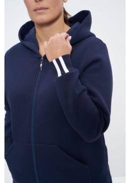 Костюм спортивный женский утепленный 1166 синий, Cleo