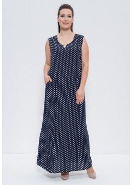 Платье 1261 blue/goroh, Cleo