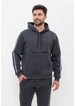 Костюм мужской спортивный 1502 темно-серый, Cleo