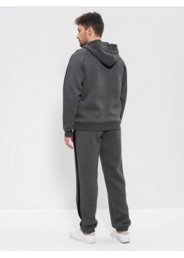 Костюм мужской спортивный теплый 1504 темно-серый, Cleo