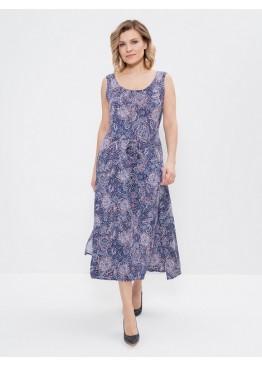 Сарафан 614-синий/чайная роза, Cleo