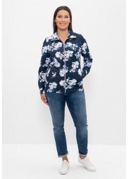 Куртка 820 синий/белый букет, Cleo