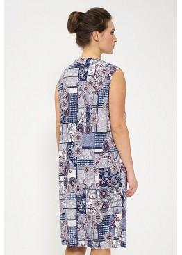 Сарафан 825-blue/gray/bordo, Cleo