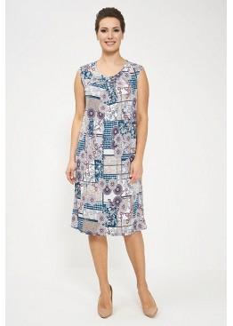 Сарафан 825-gray/turquoise, Cleo