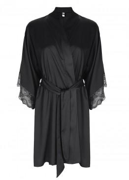 Халат 37317 NIGHTIE black, ESOTIQ