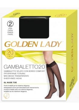 Гольфы женские Gambaletto 20 New-nero, Golden Lady
