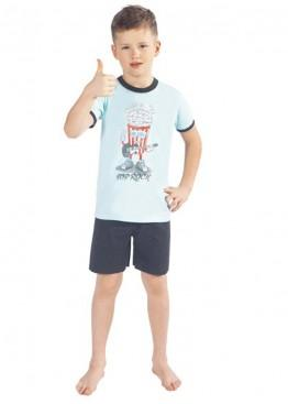 Пижама AKSON-turquoise/gray for children, Italian Fashion