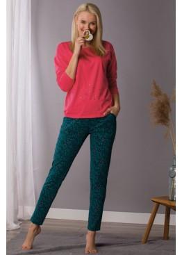 Пижама женская хлопковая с брюками LNS 708 B21, KEY