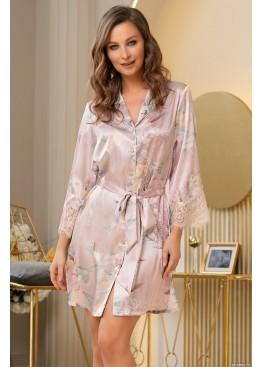 Халат рубашка шелковый женский 3727, Mia-Amore