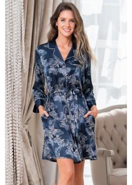 Халат-рубашка женский шелковый 3777, Mia-Amore