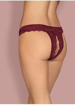 Трусики Miamor crotchless thong-bordo, Obsessive