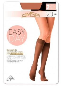 Гольфы (2 пары) Gamb. Easy Day 20 - nero, Omsa