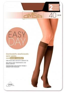 Гольфы (2 пары) Gamb. Easy Day 40 - nero, Omsa