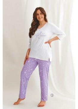 Пижама женская хлопковая с штанами 2602 21/22 ISABEL, Taro