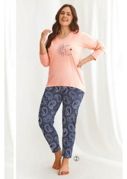 Пижама женская хлопковая 2611 21/22 OMENA (Розовый/синий), Taro