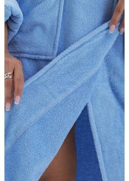 Халат махровый женский E 701 Mono голубой, EvaTeks